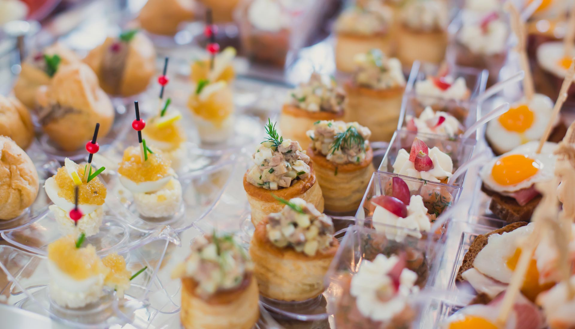 Divine catering presentations.